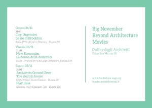 Beyond architecture movies