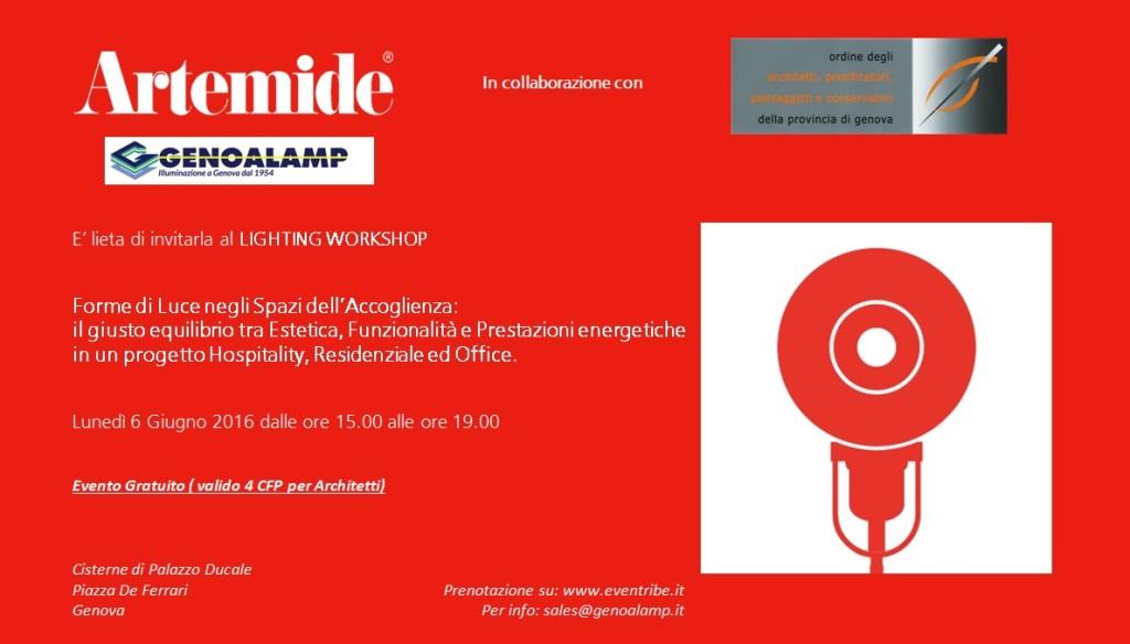 Invito Workshop Genova 06.06.2016