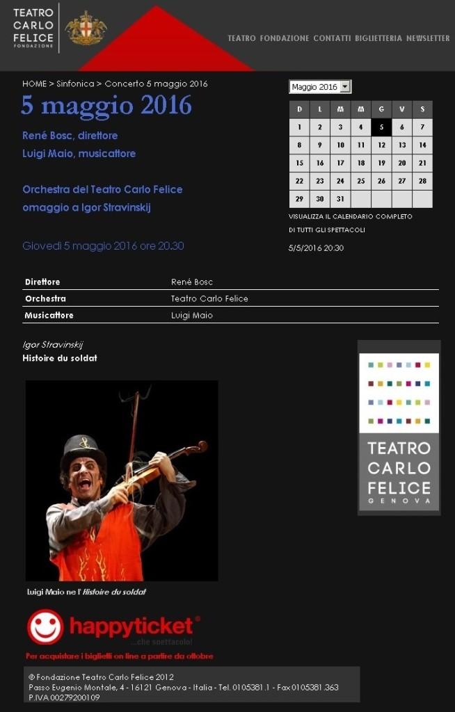 L'Histoire by Luigi Maio al Carlo Felice - Sito