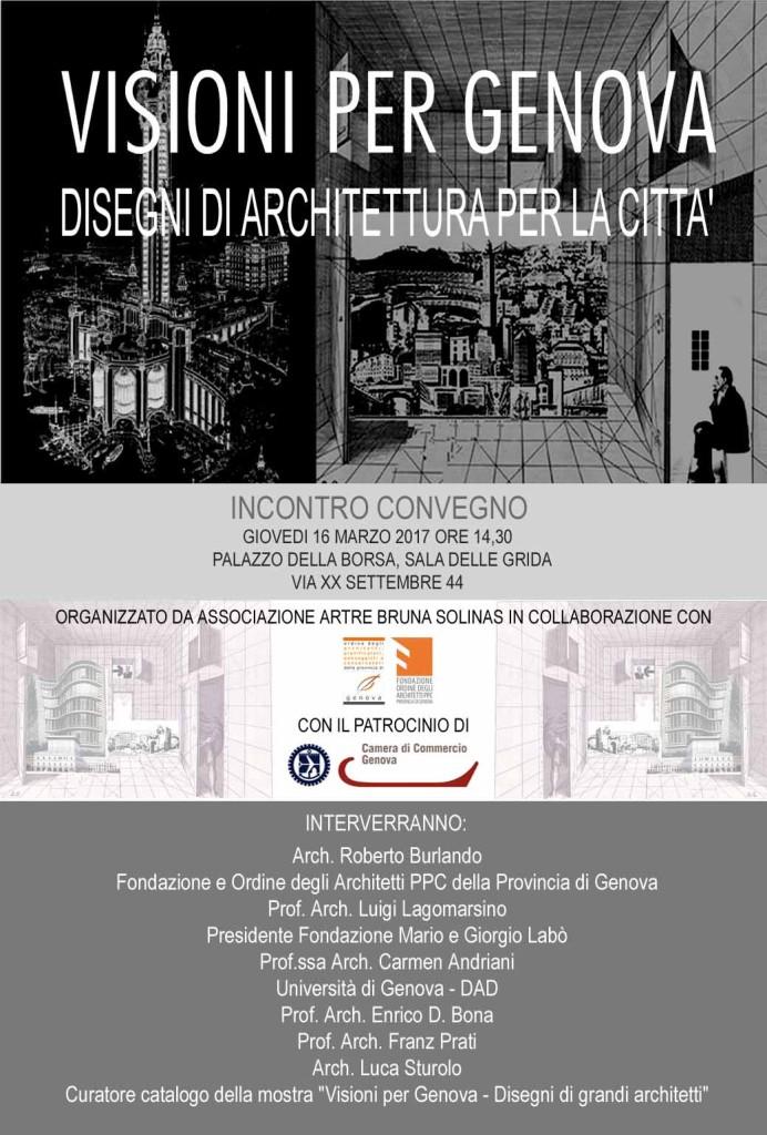 Locandina convegno Visioni per Genova