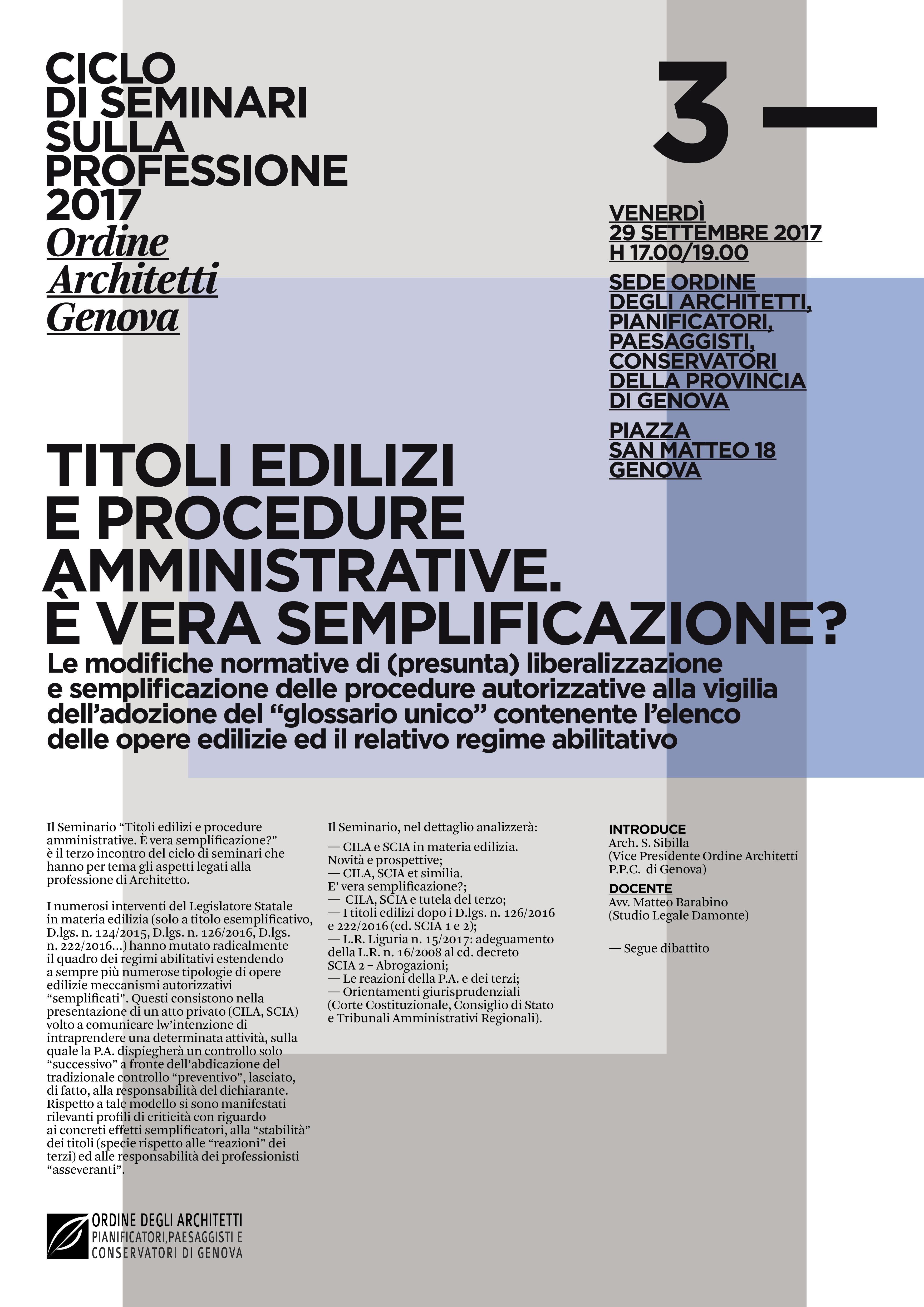 Settembre 2017 Ordine Degli Architetti Pianificatori Paesaggisti