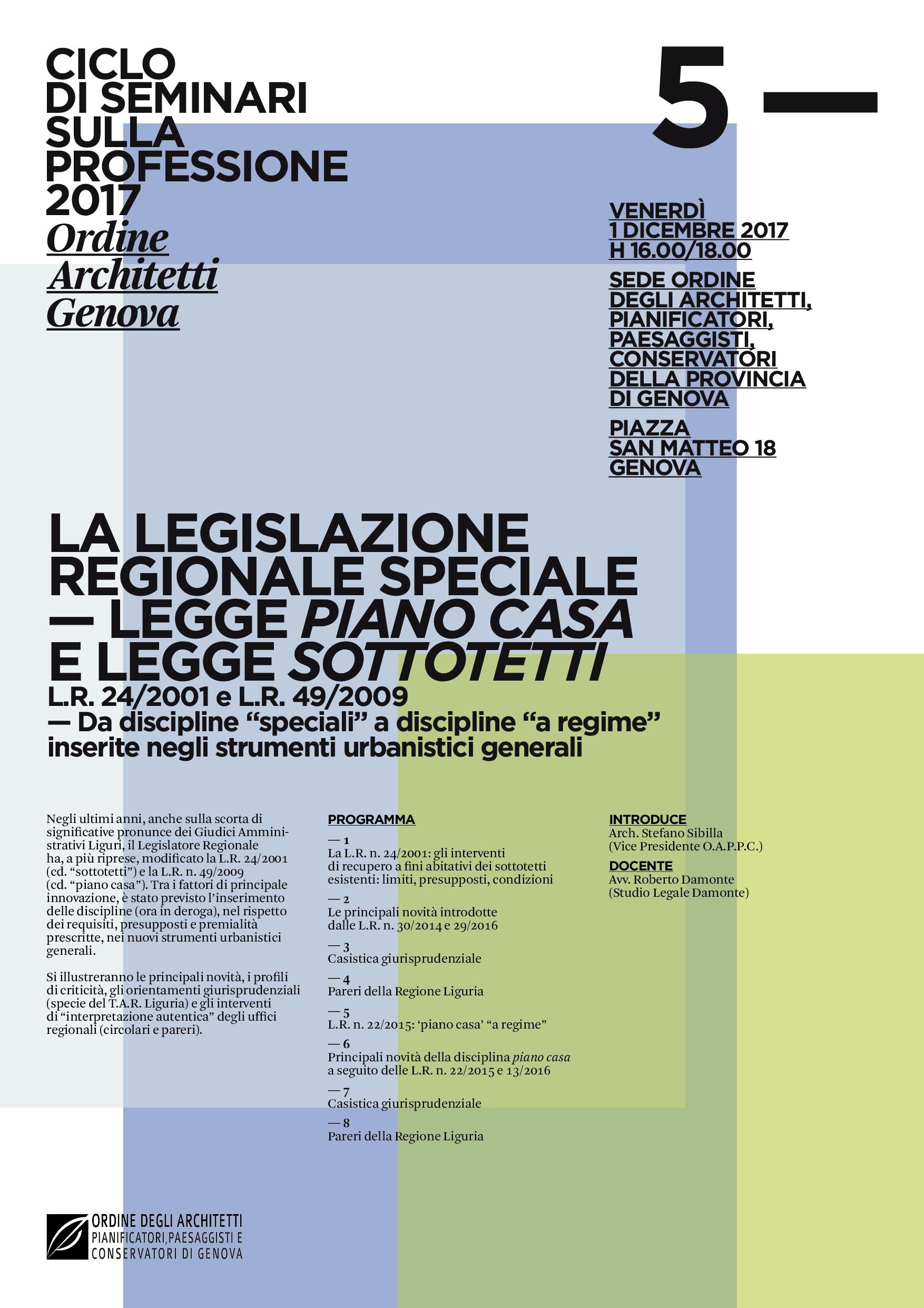 La legislazione regionale speciale legge piano casa e - Legge piano casa ...
