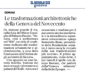 Il Secolo XIX ed. 07/04/2019